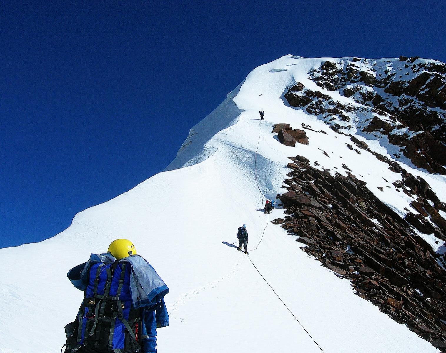 Bolivie  Camp de haute montagne   Alpinisme