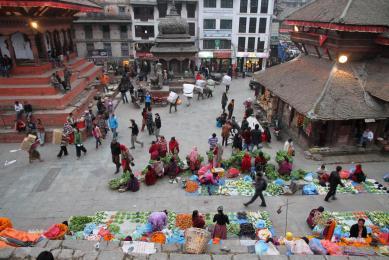 Voyage Népal marché Bhaktapur