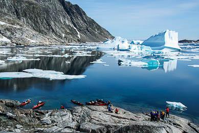Trek kayak Groenland au coeur des glaciers
