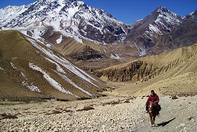 Randonnée dans le Mustang Népal